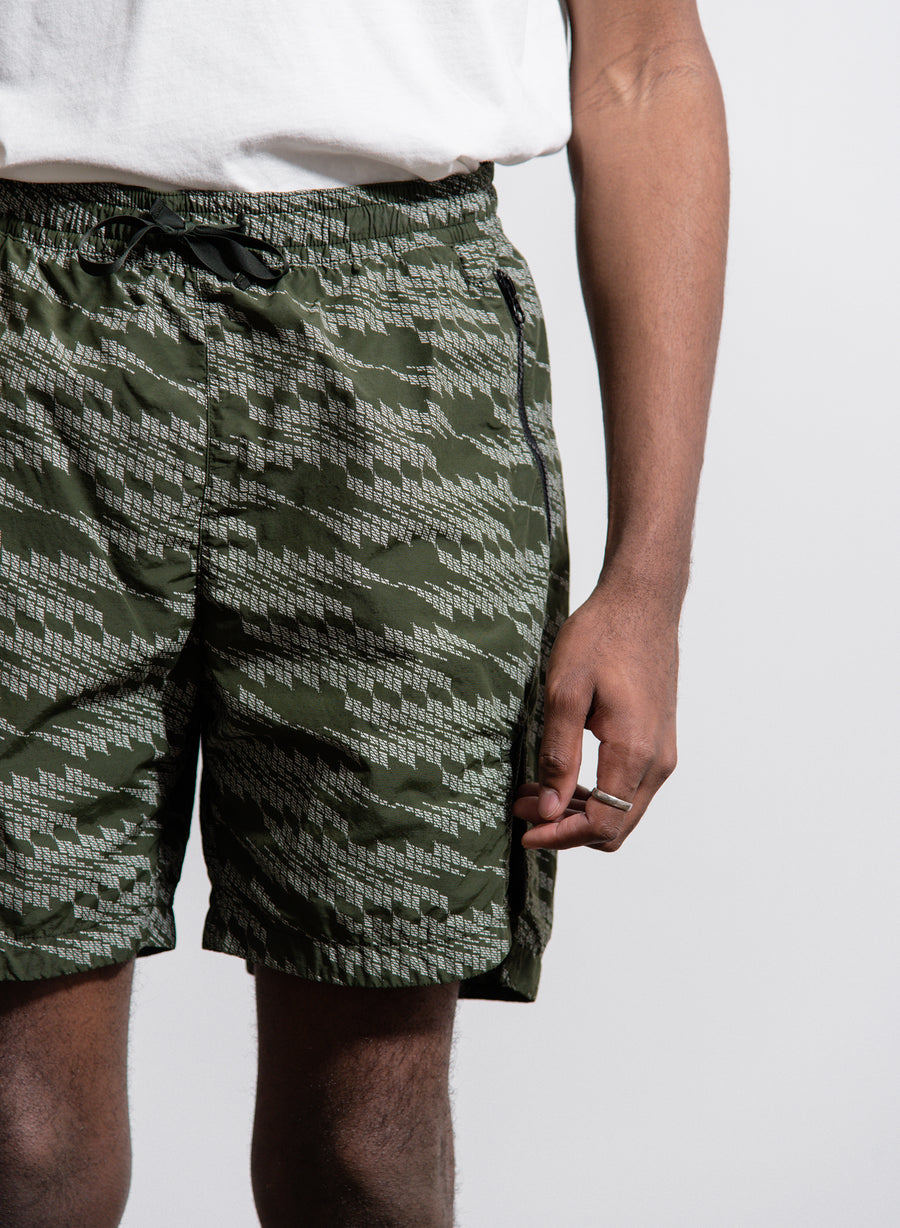 Naslan Print Swim Short Green