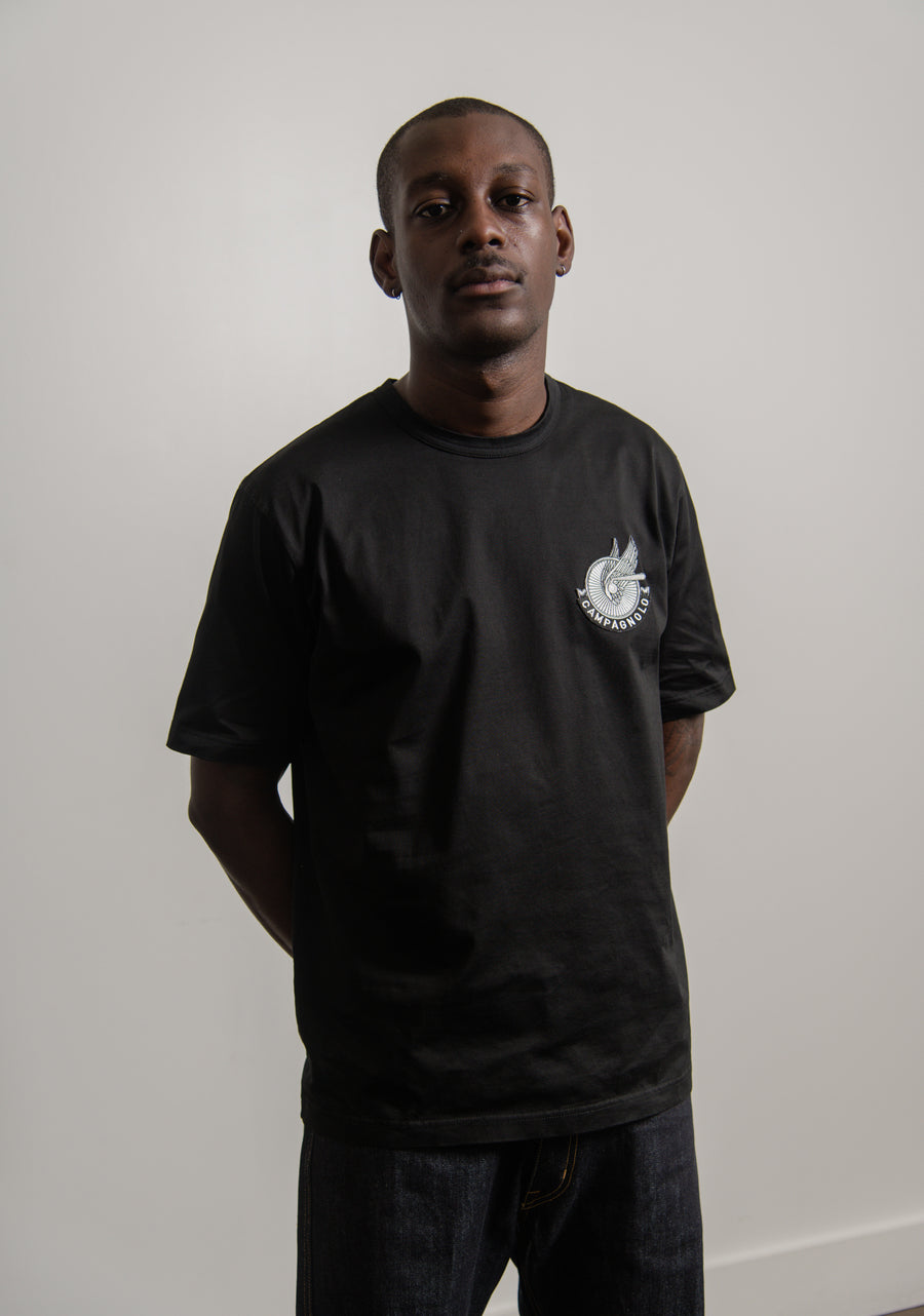 Campagnolo Patch Garment Dyed Tee Black