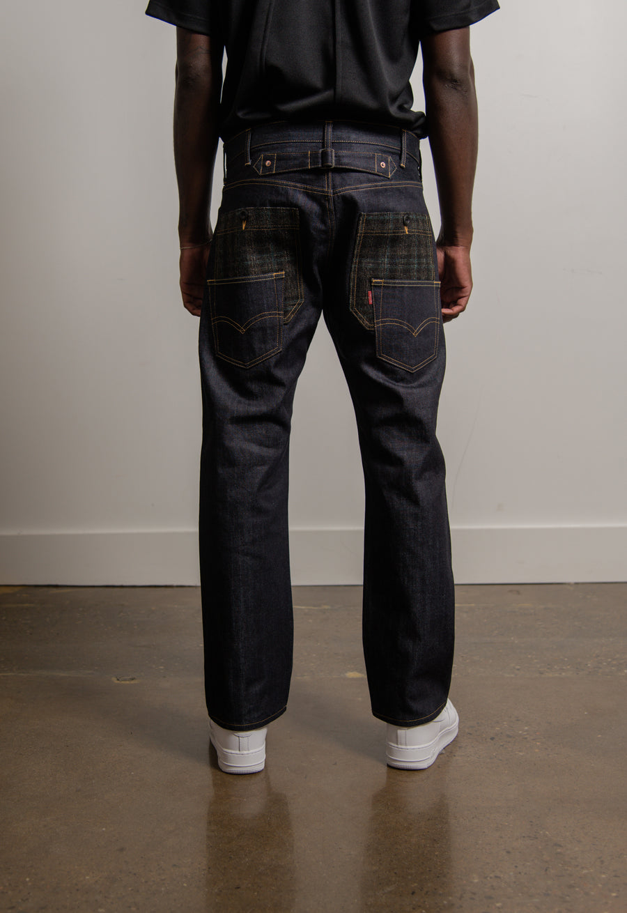 Wool Tweed Pocket Denim Indigo