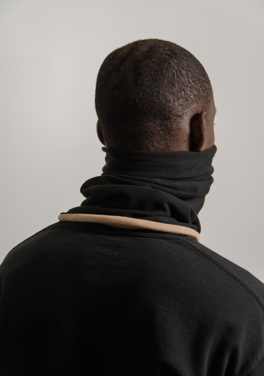 FR Reversible Neck Gaiter Black