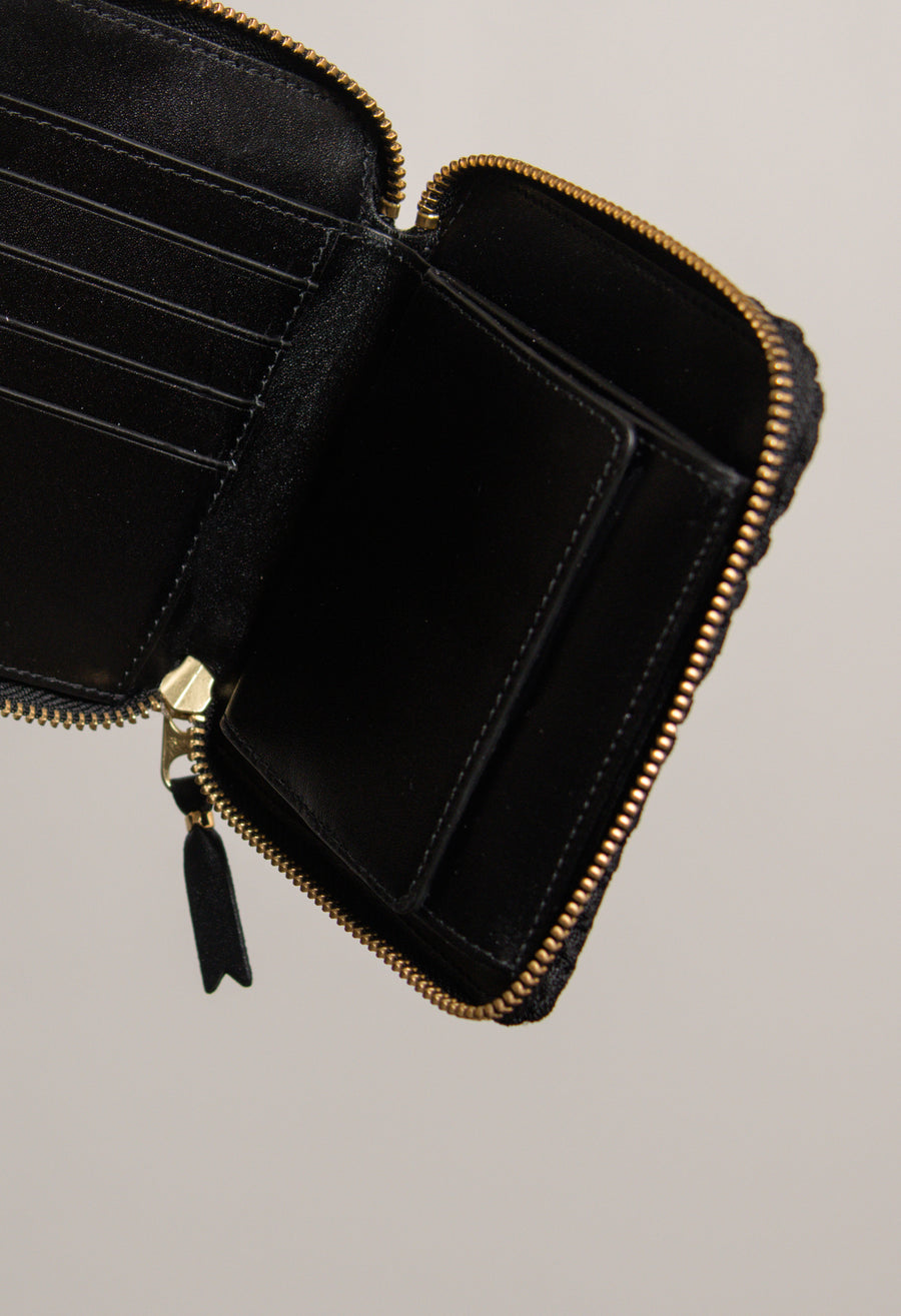Tortoise 3-Sided Zip Wallet Black 2100FT
