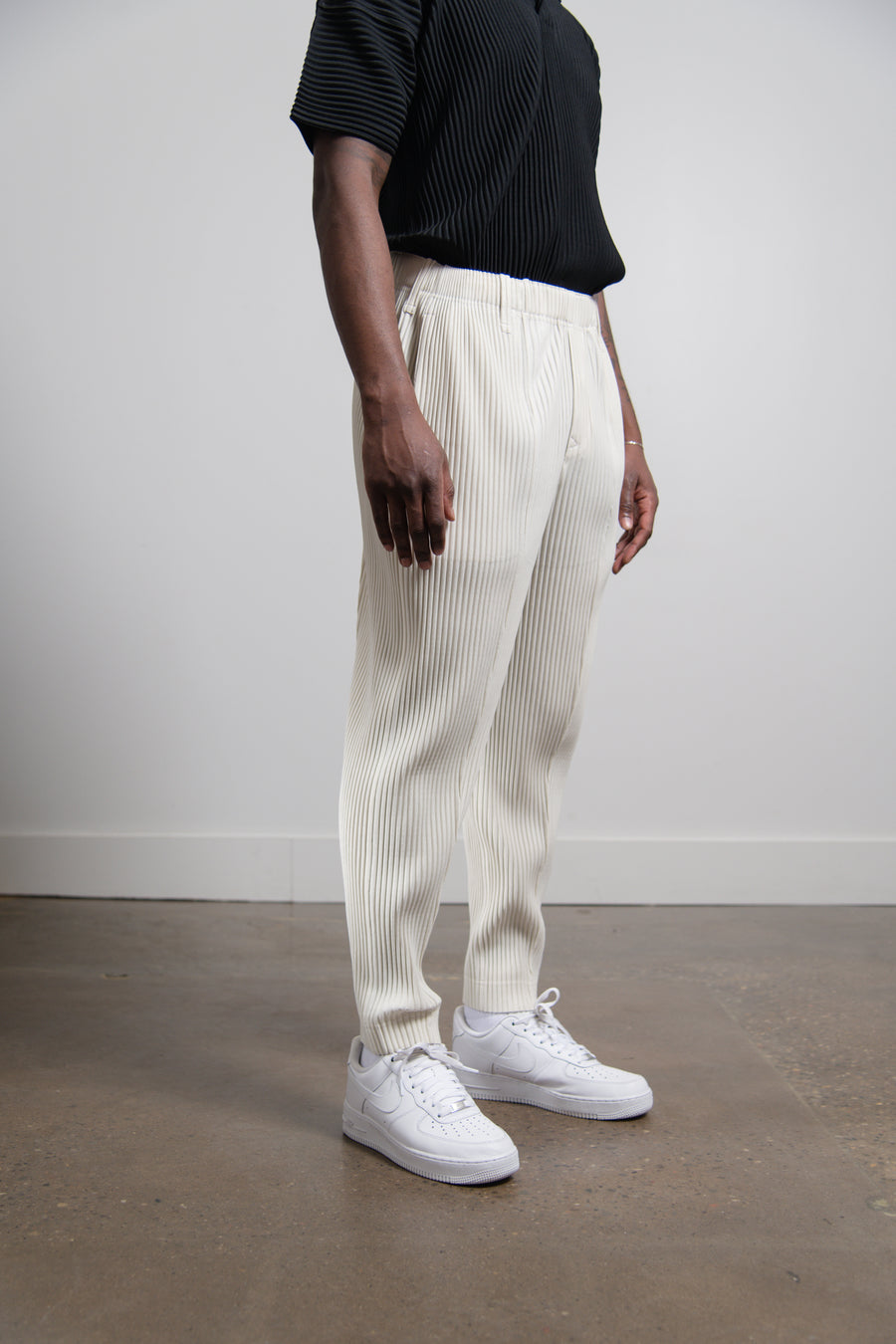 Rock Pleated Trouser Ivory JF159