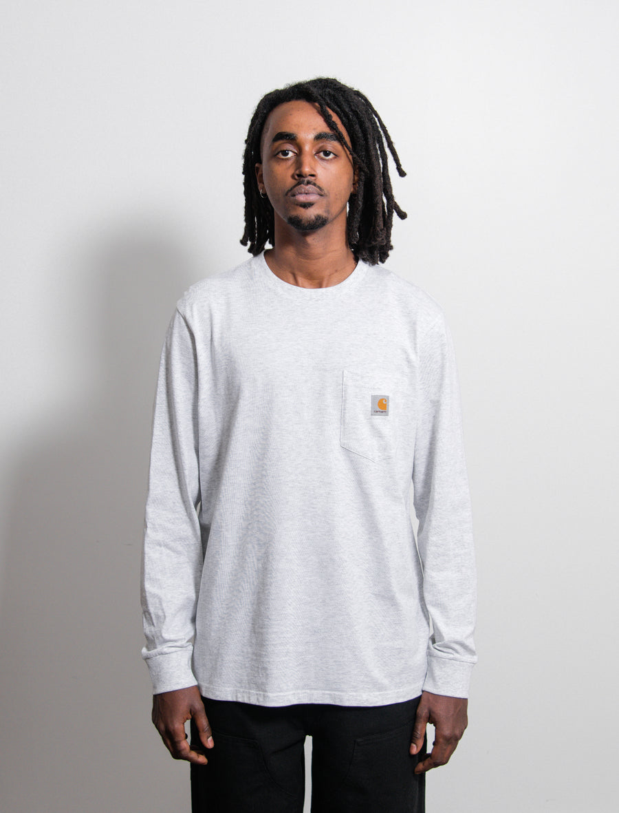 L/S Pocket Tee Ash Heather