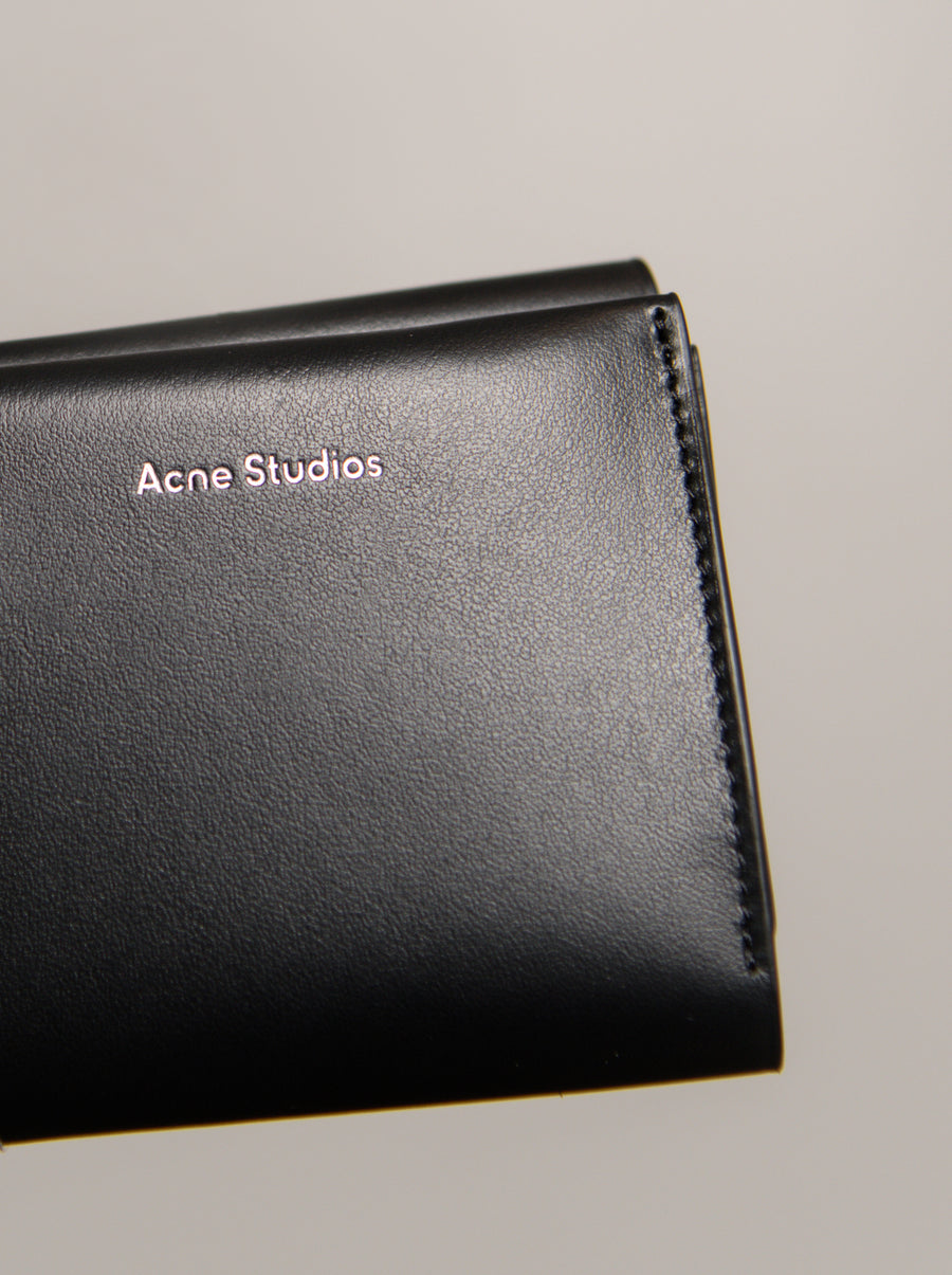 Trifold Leather Wallet Black SLGS000105