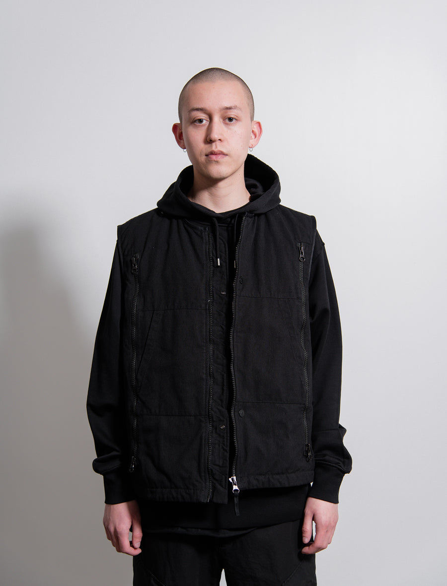 Hollowcore Padded Vest Black
