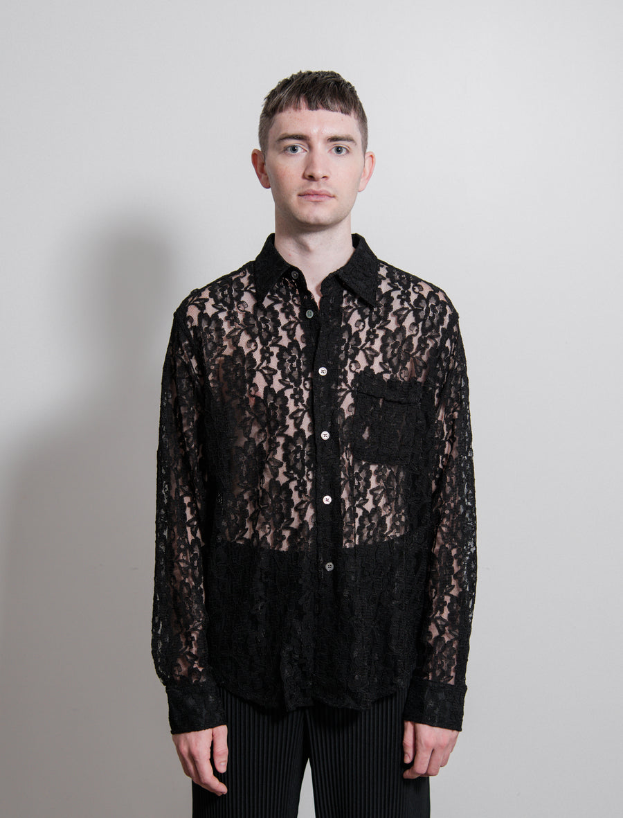 Lace Policy Shirt Black