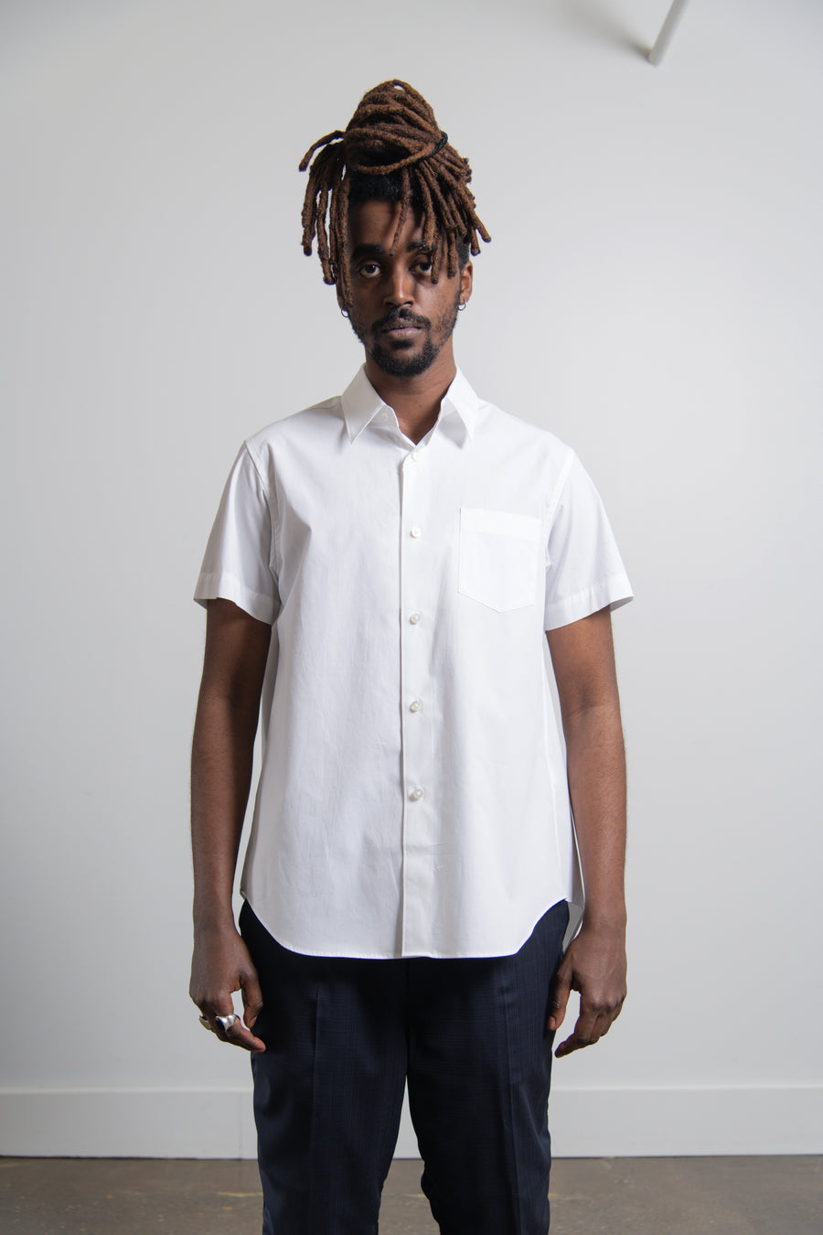 Pleated Shirt White
