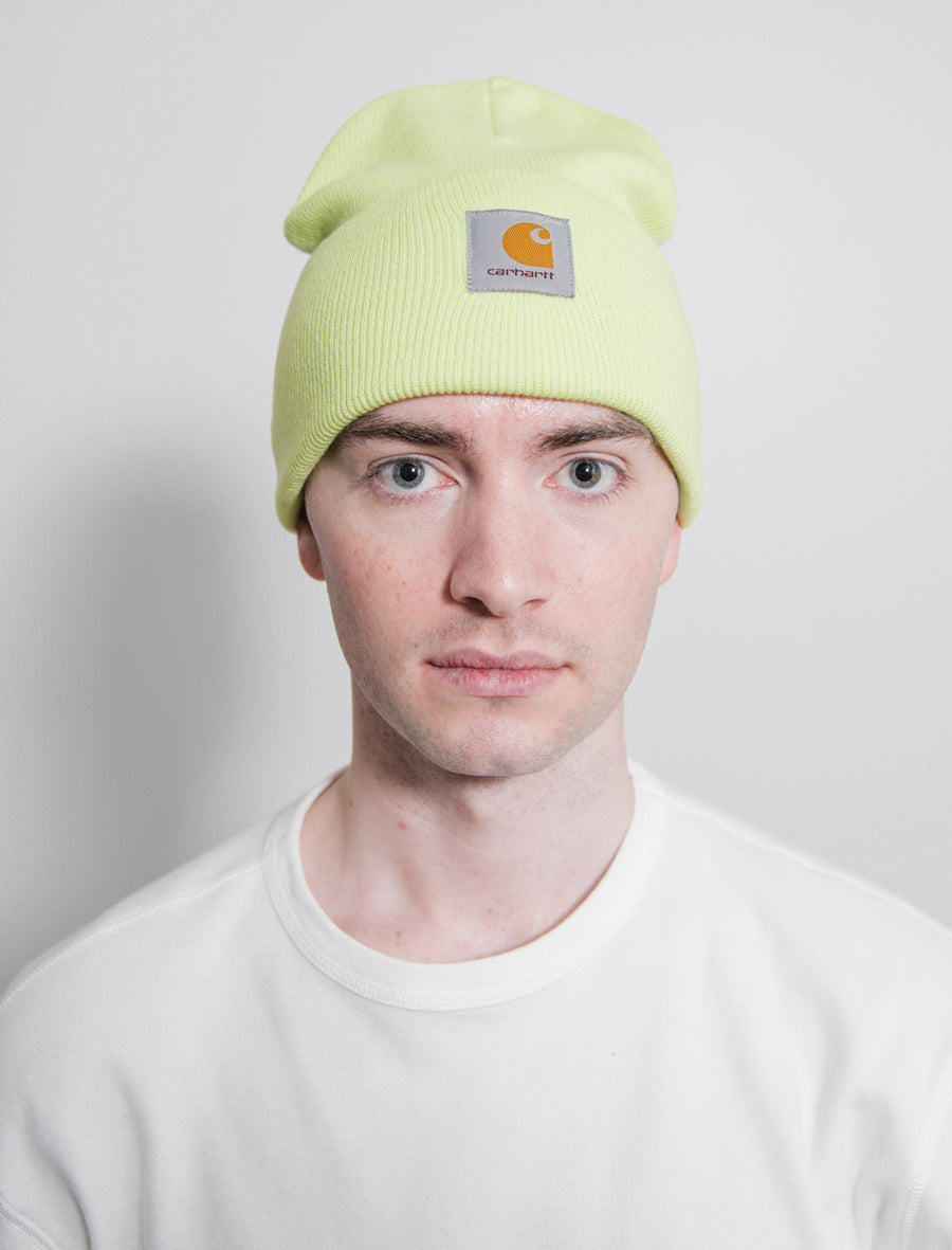 Acrylic Watch Hat Lime