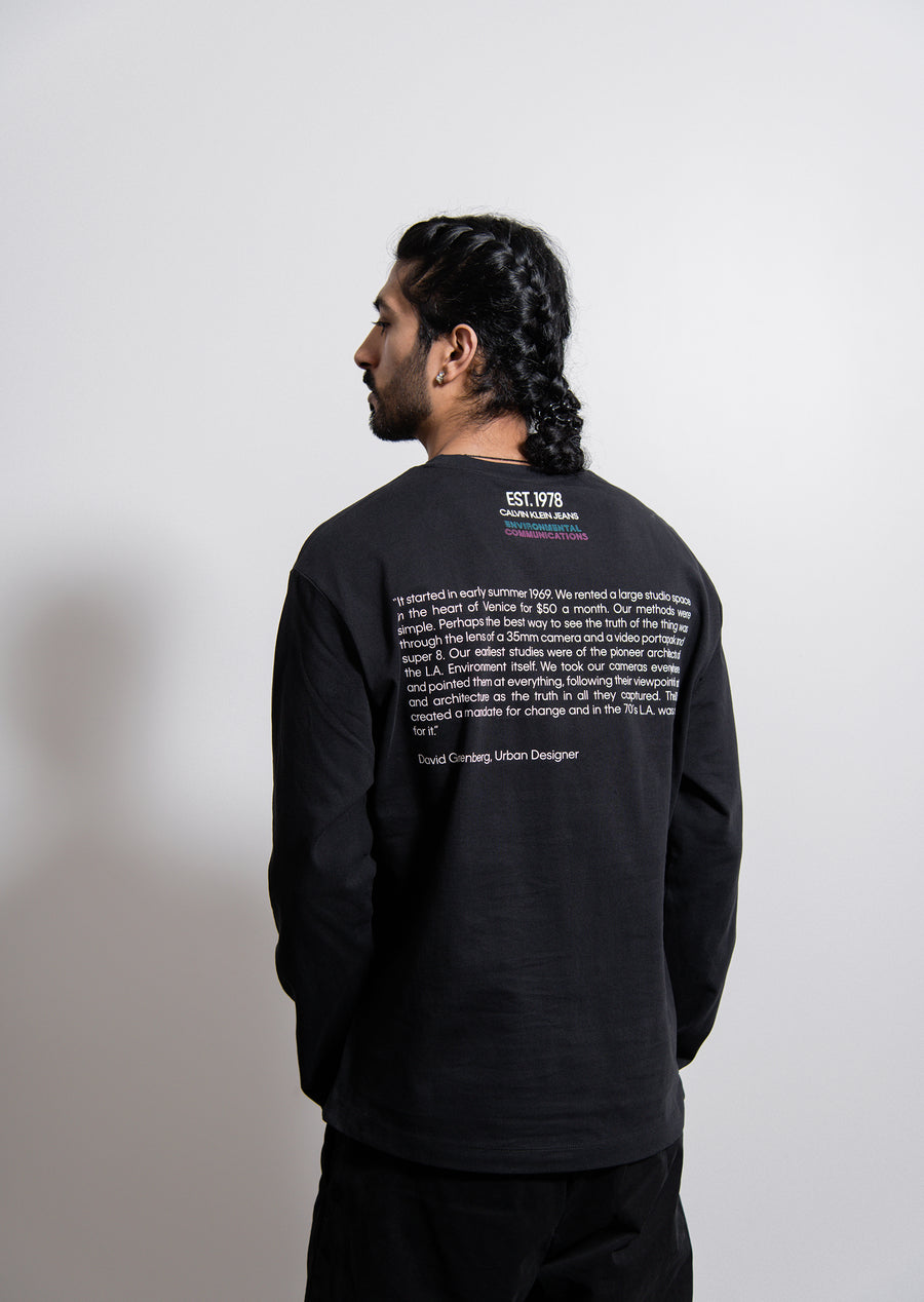 L/S EC Car Tee Black