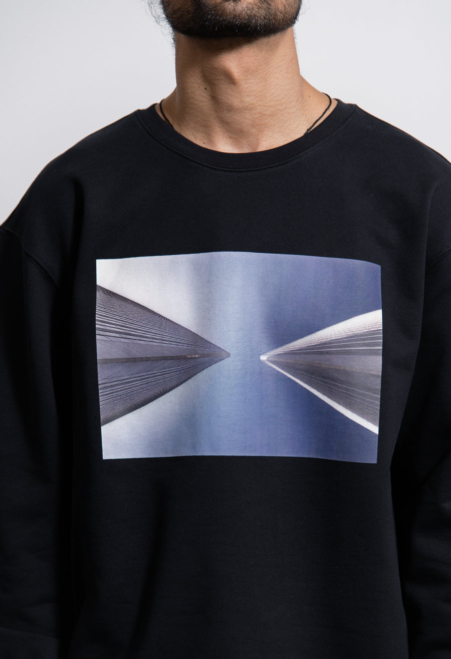 EC Skyscraper Crewneck Sweater Black