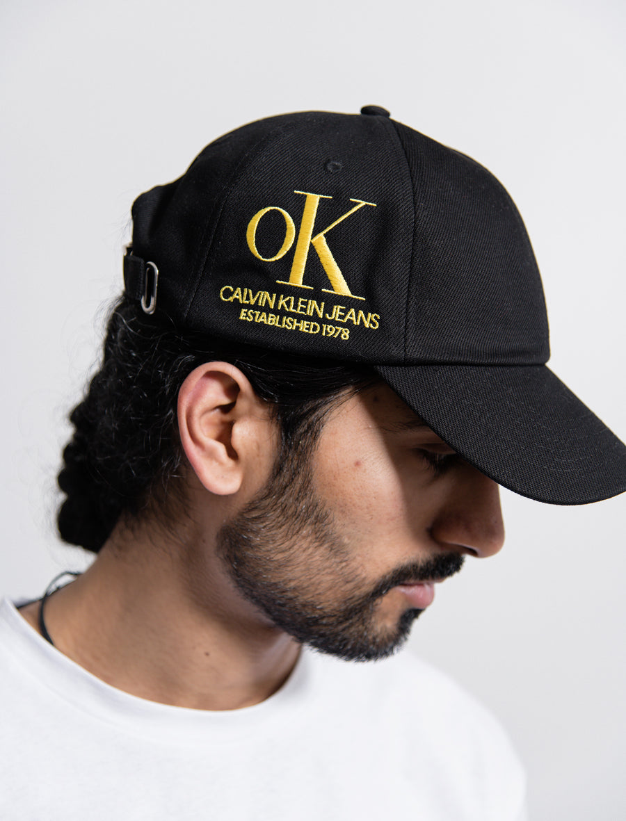 OK Logo Denim Cap Black/Yellow