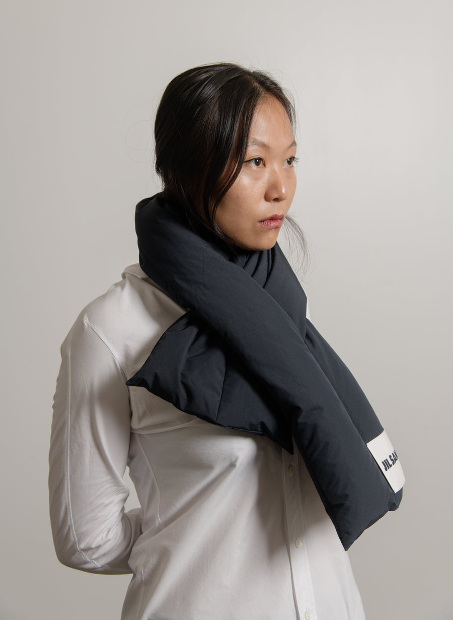 Down Scarf Dark Blue