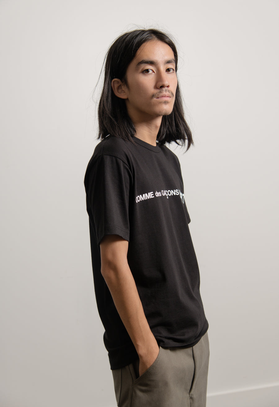 Short Sleeve Front Logo Tee Black W28116