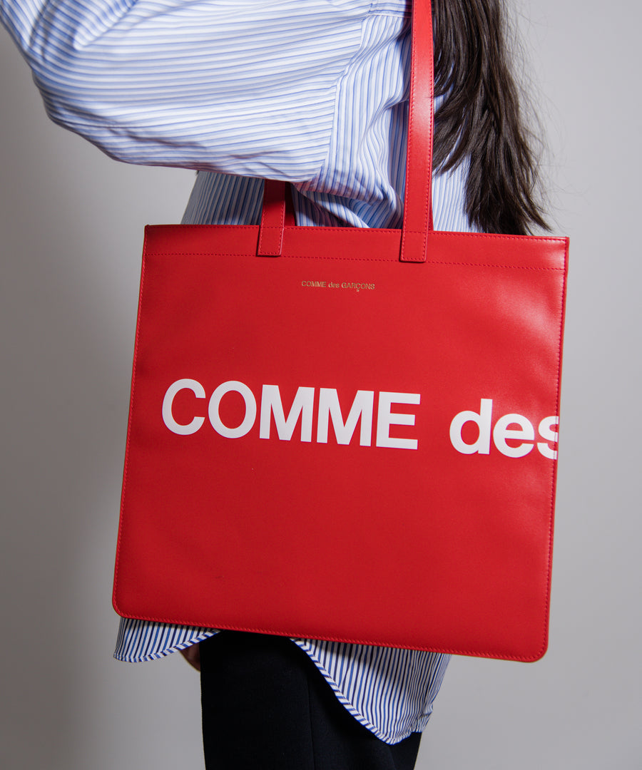Huge Logo Tote Bag Red
