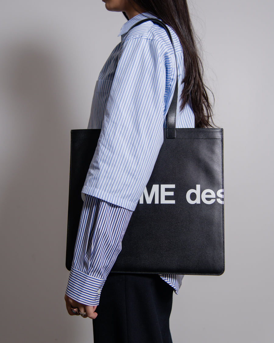 Huge Logo Tote Bag Black