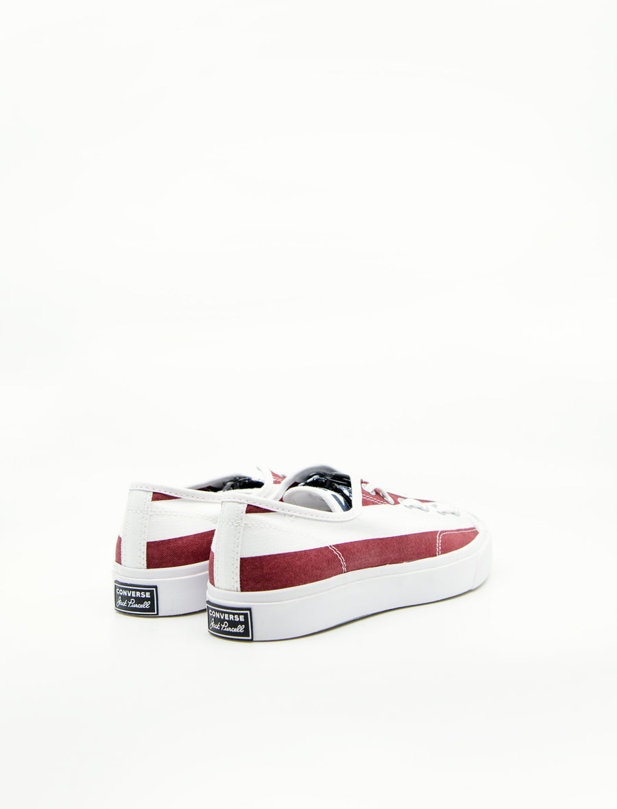 TheSoloist Jack Purcell OX White/Garnet 164836C