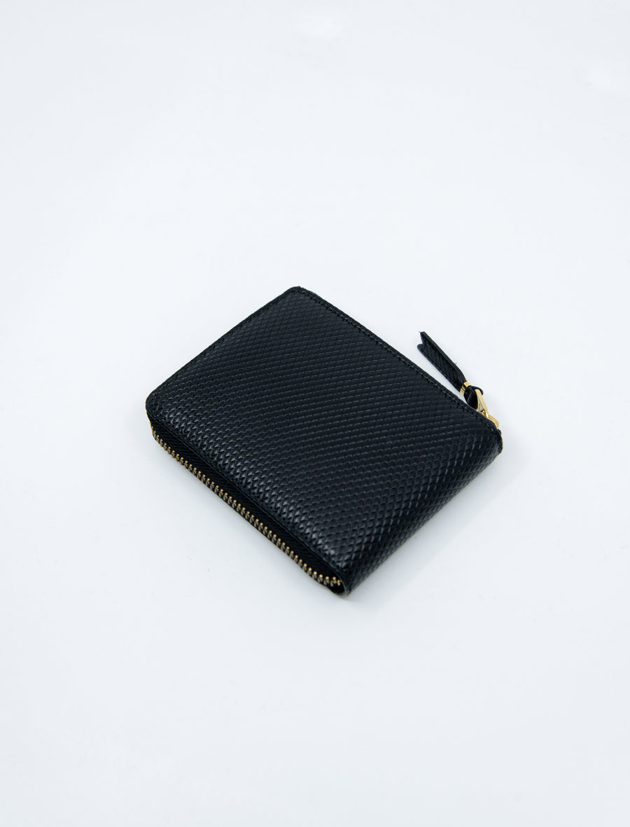 Luxury 3-Sided Zip Wallet Black