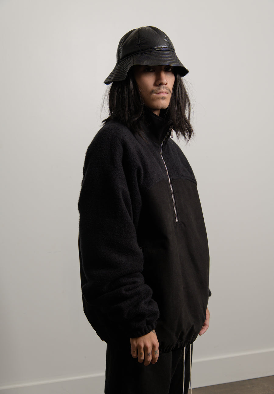 Pullover Windbreaker Jacket Black