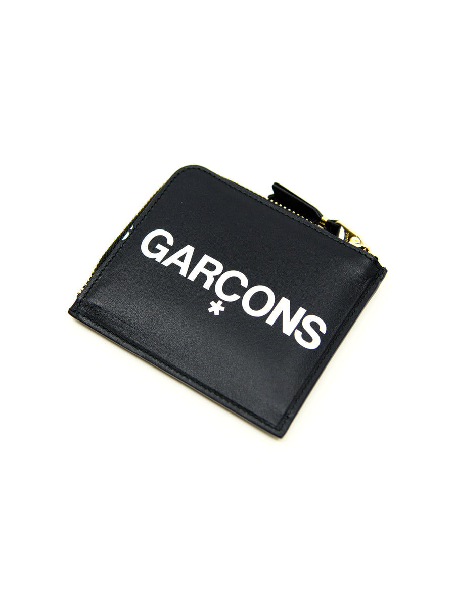Huge Logo 2-Sided Zip Wallet Black SA3100HL