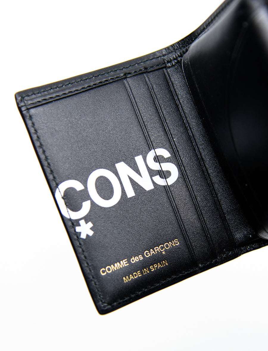 Huge Logo Bifold Wallet Black SA0641HL