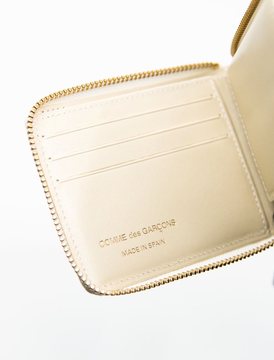 3-Sided Zip Wallet Off-White
