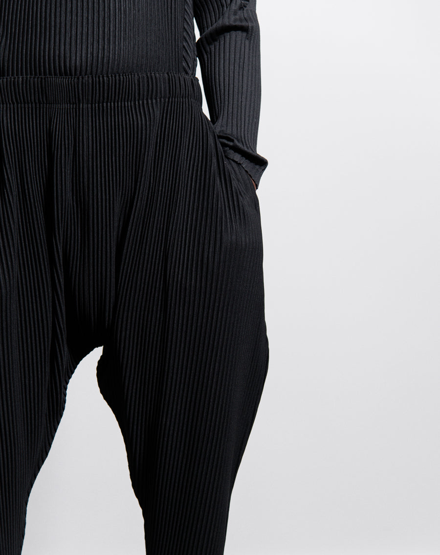 Tapered Pleats Trouser 2 Black JF136