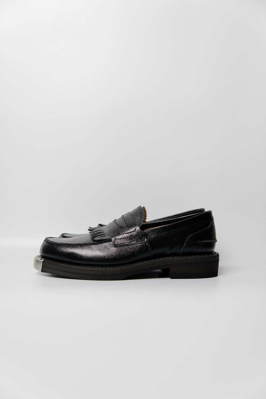 Army Grain Leather Loafer Black