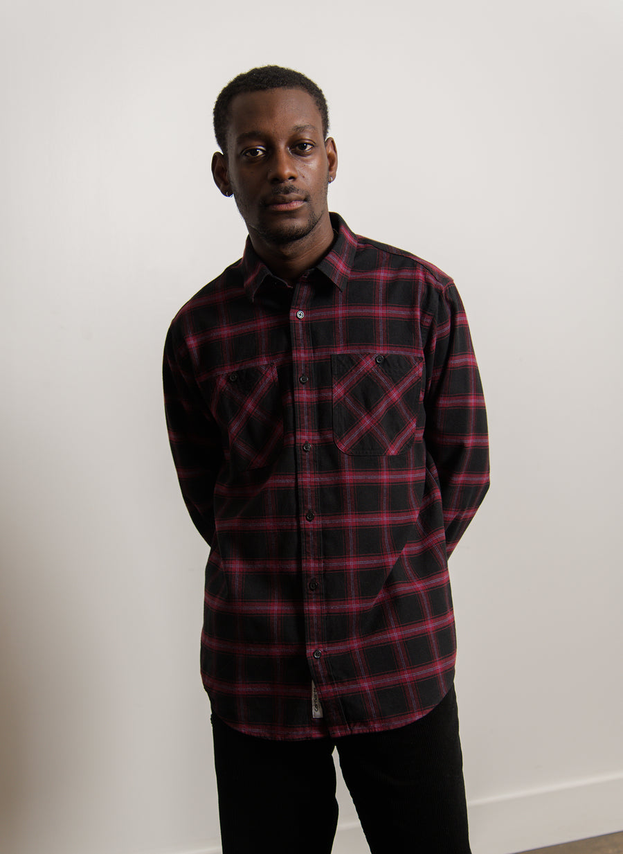 Darren Check Shirt Bordeaux