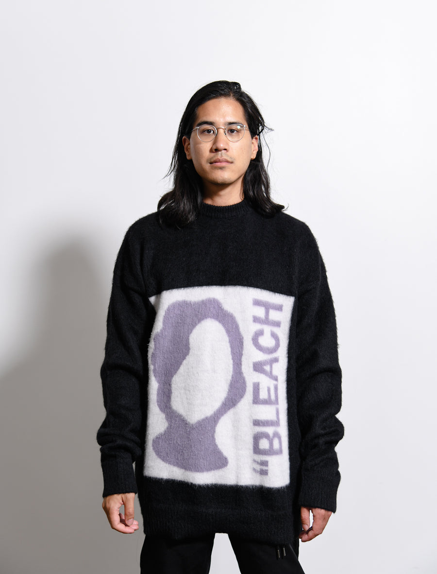 Bleach Knit Sweater Black