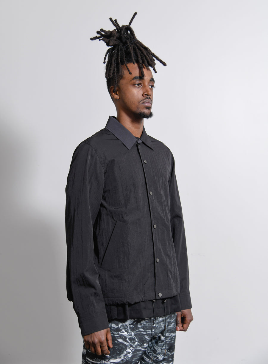 Watteau Pleat Coach Jacket Black