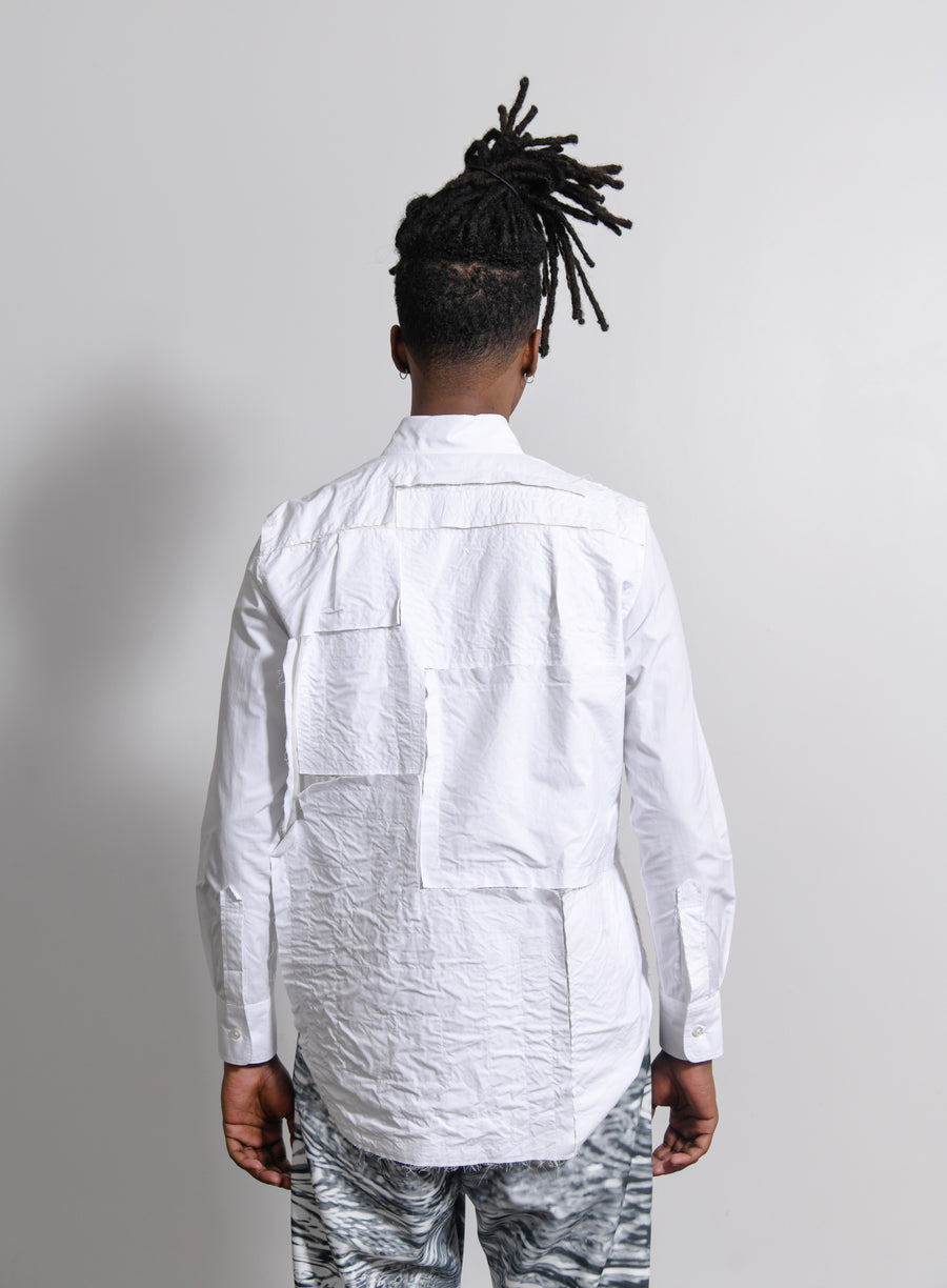 Patchwork Shirt White