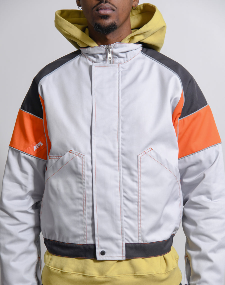 Tri-Colour Work Jacket Grey/Dark Grey/Orange