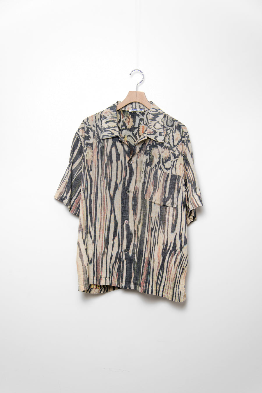 Short Sleeve Box Shirt Hanabi Print