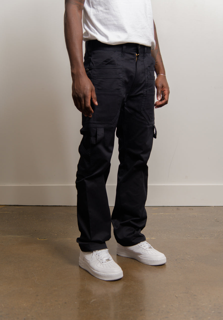 Cotton Stretched Chino Navy P023