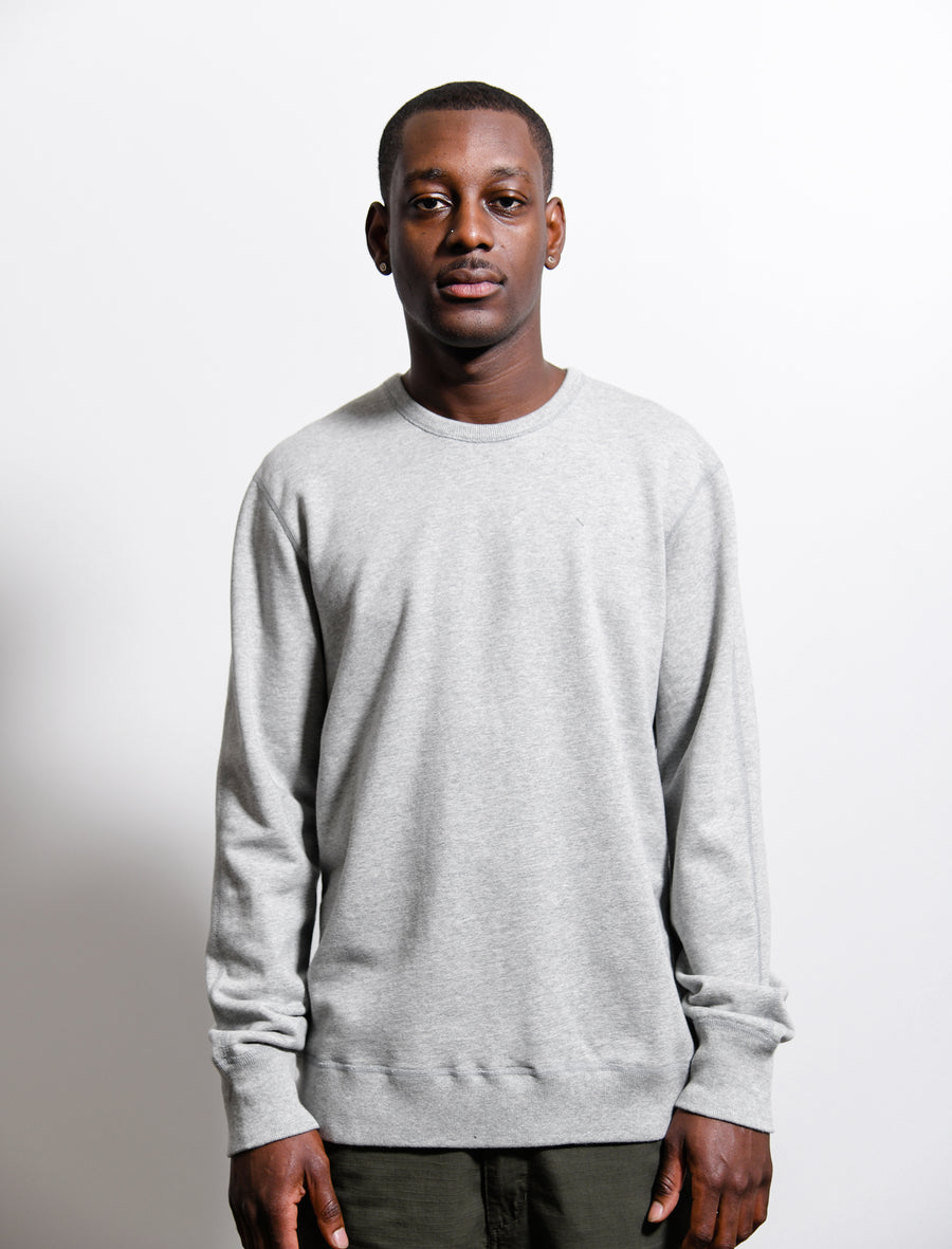 Midweight Terry Crewneck Sweater Heather Grey