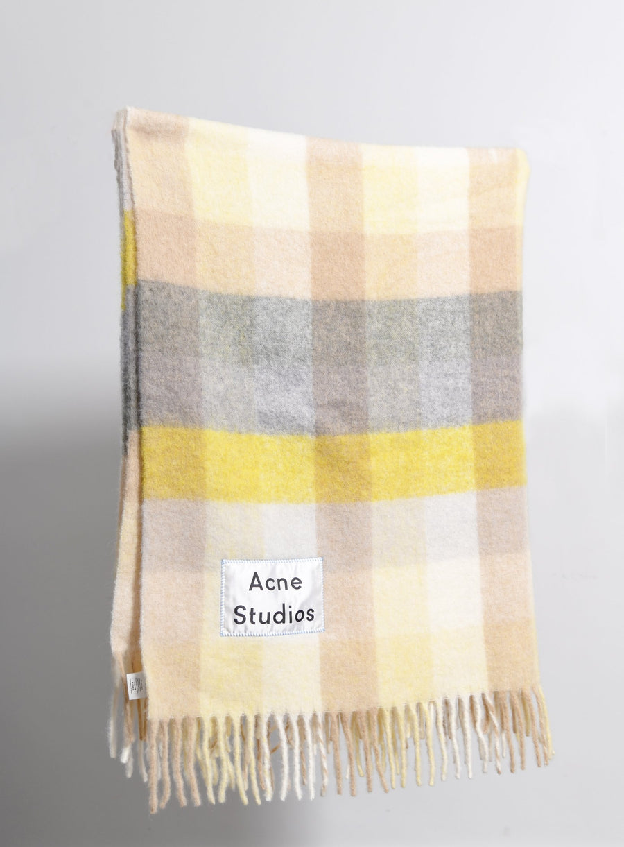 Multi Check Blanket Yellow/Grey SCAR000046