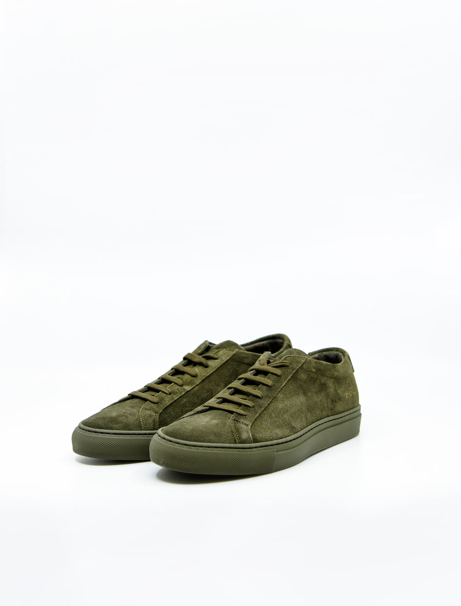 Achilles Low Suede Army Green