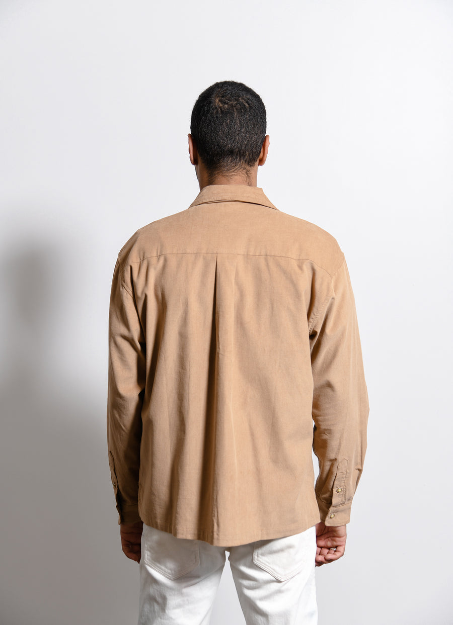 Corduroy Snap Shirt Tan