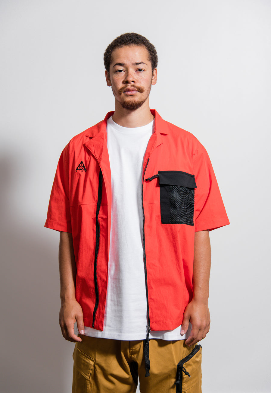 NRG ACG Short Sleeve Shirt Habanero Red/Black CI0414-634