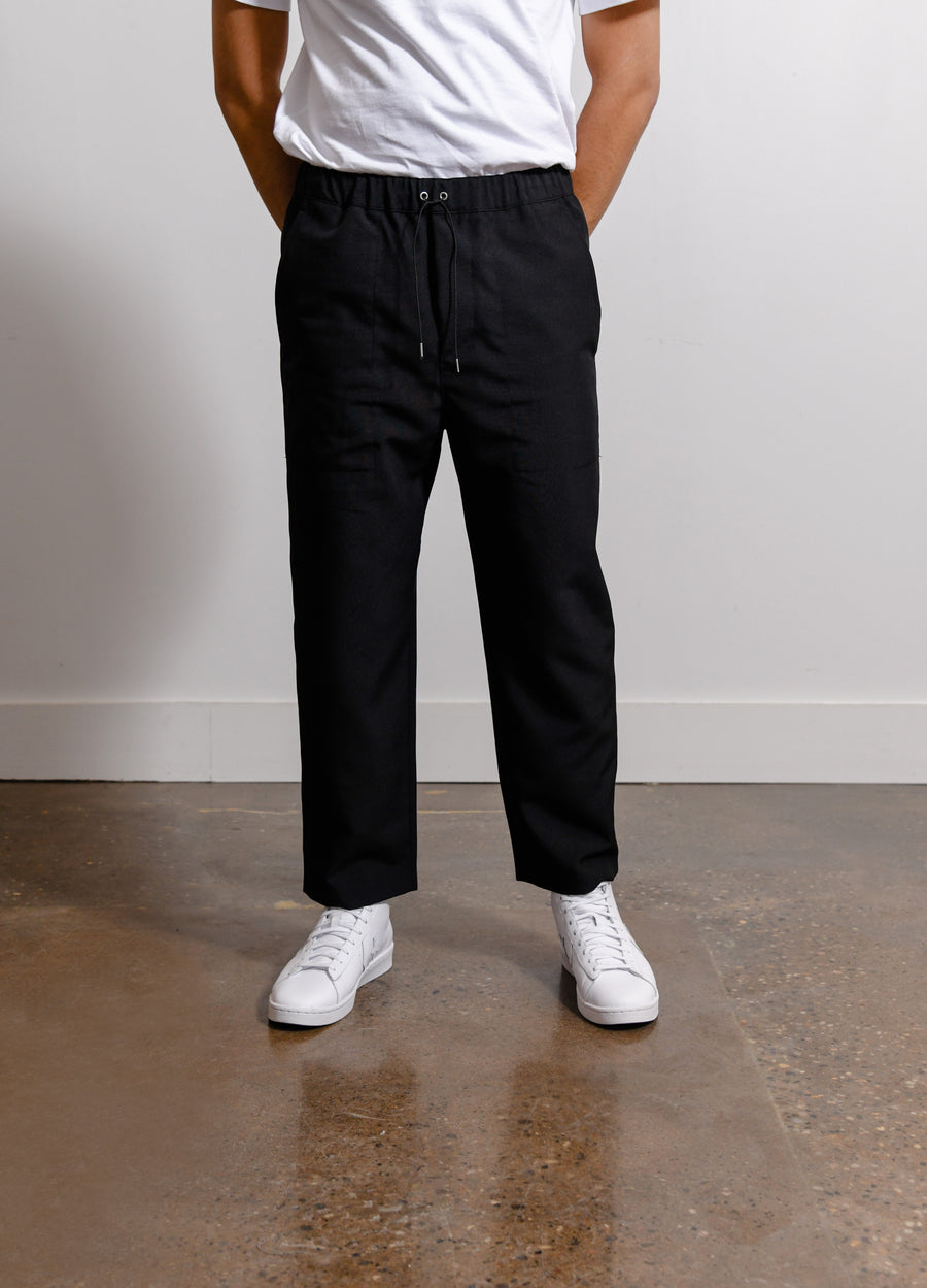 Poly Drawcord Pant Black