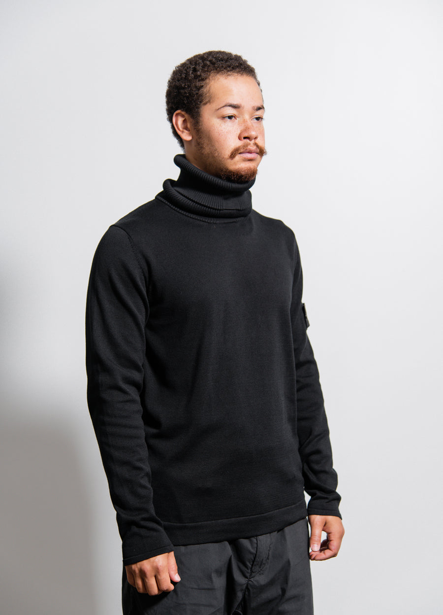 506A2 Knit Turtleneck Sweater Black