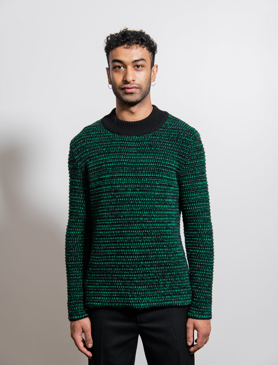 Deng Knit Sweater Green/Black