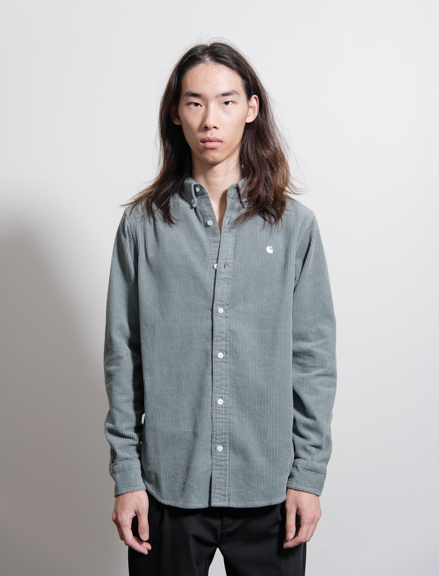 Corduroy Madison Shirt Cloudy Grey