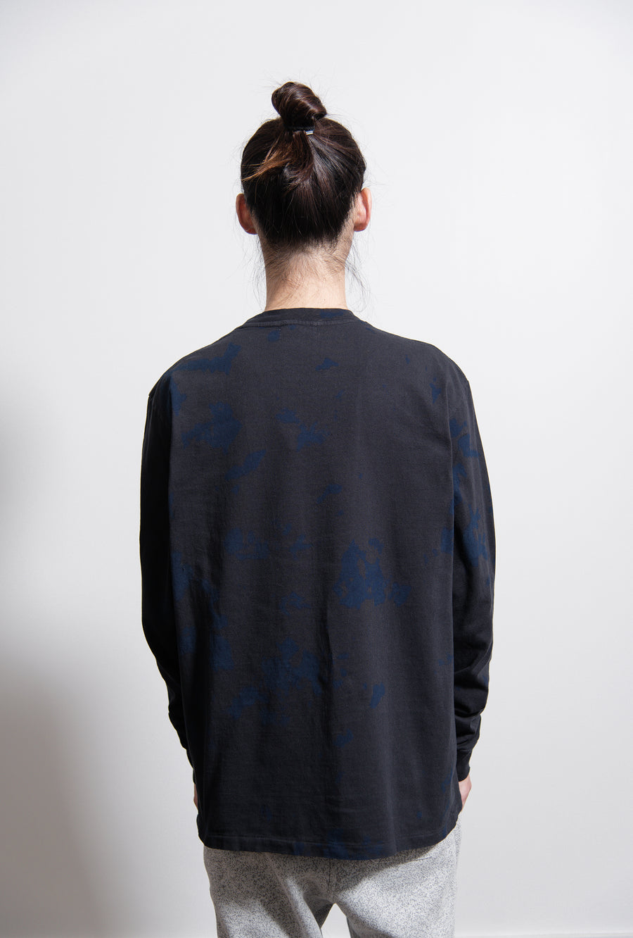 Double Dye University Tee Indigo/Black