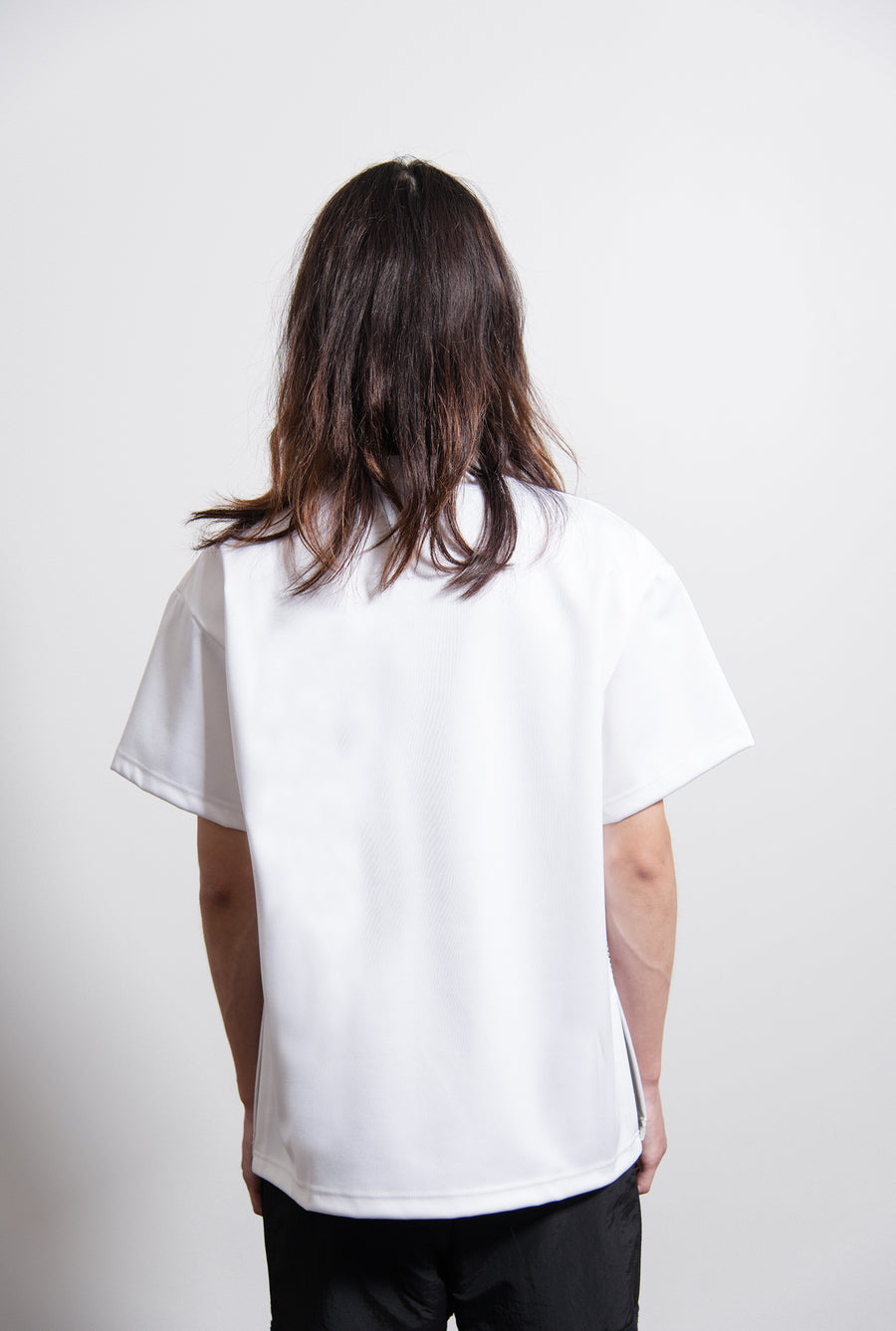 Piko Embroidery Short Sleeve Tee White