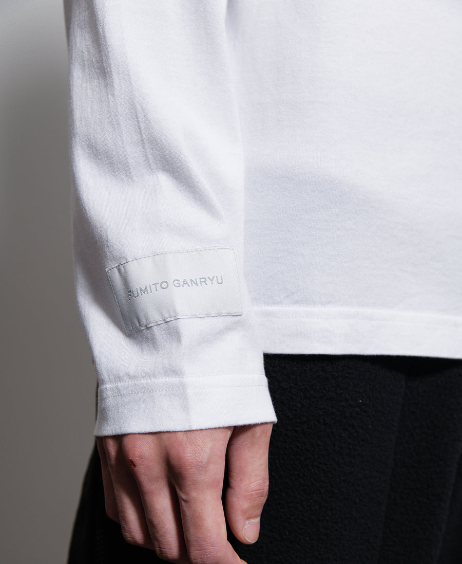 Graphic Long Sleeve Tee White/Black