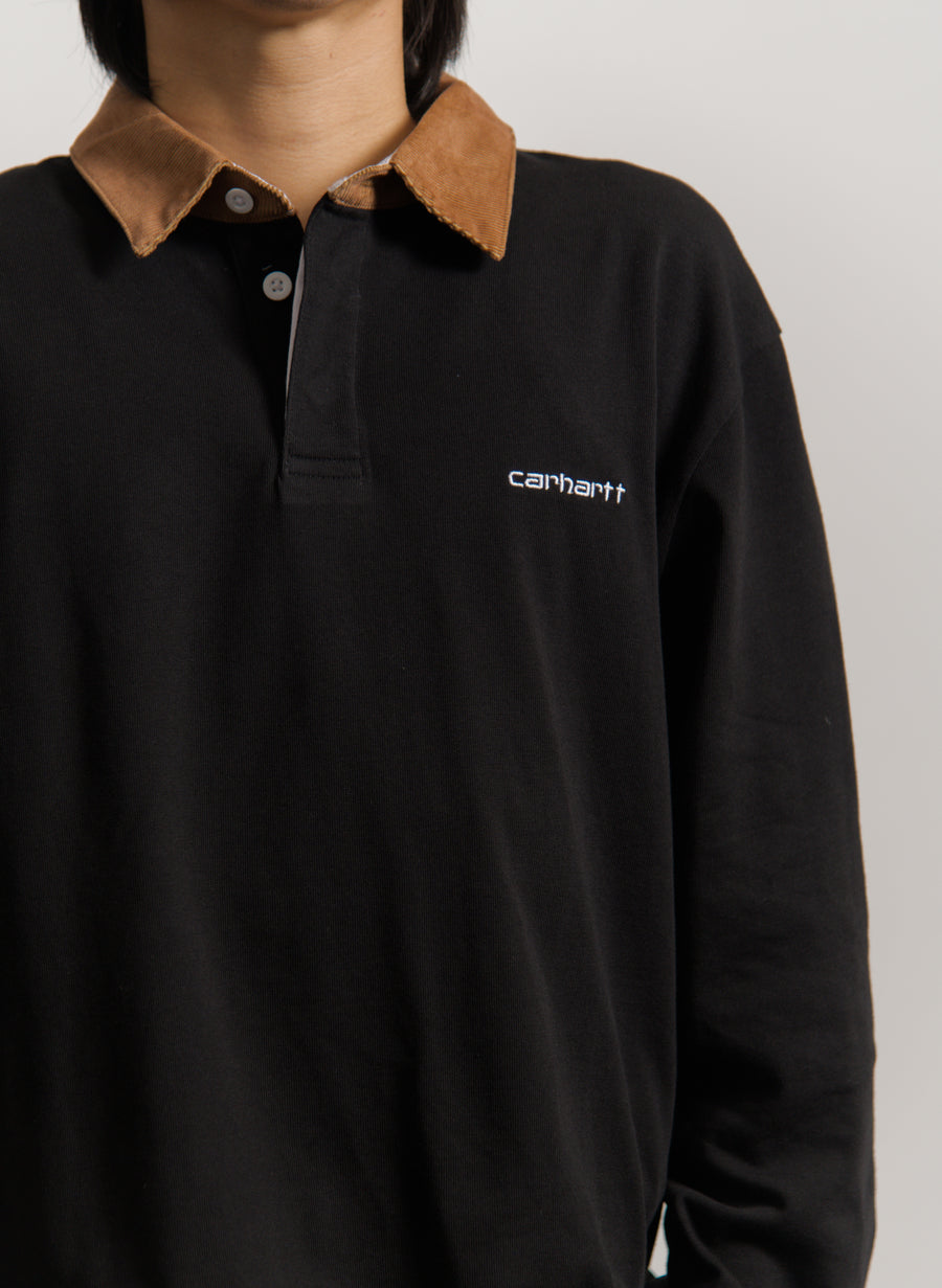 Corduroy Rugby Shirt Black/Hamilton Brown