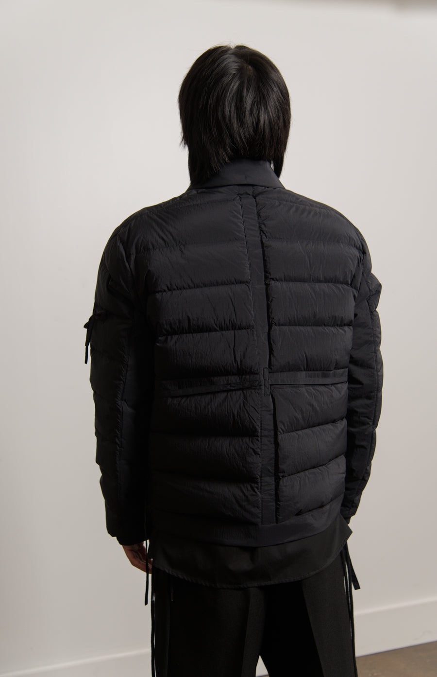 Down Filled Worker Jacket Black