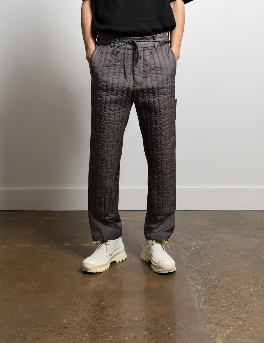 Quilted Skin Trouser Grey