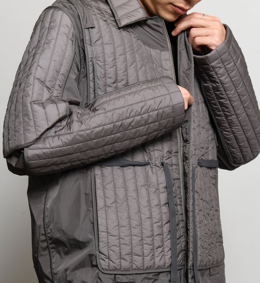 Quilted Skin Jacket Grey